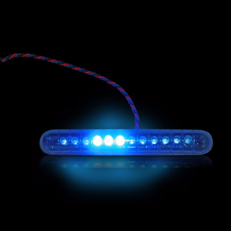 Blue Sequential LED Knight Riderz Light Bar with Flashing Brake Alert