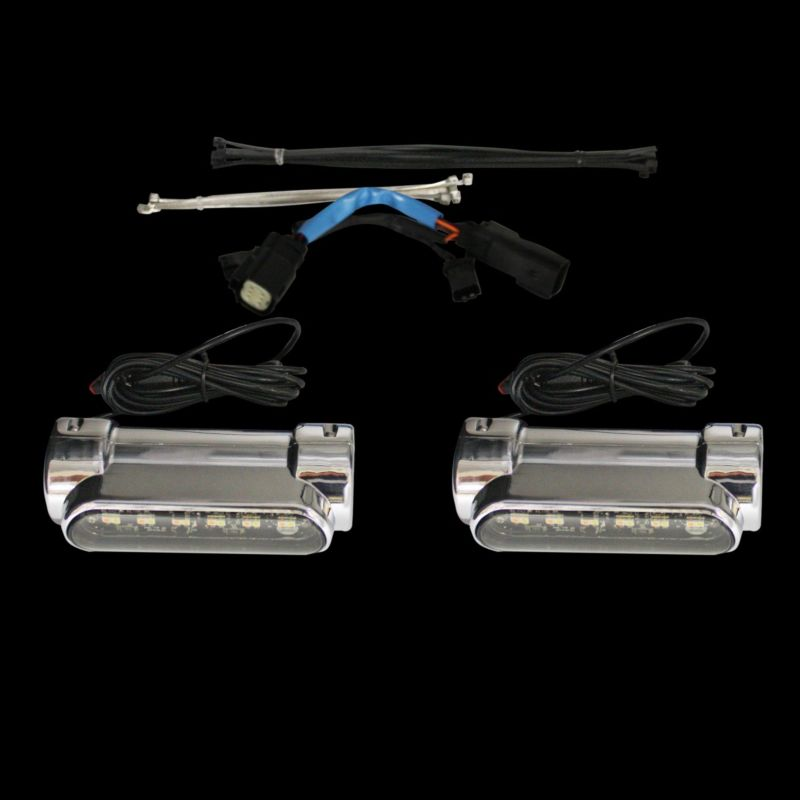 Run & Turn Signal Engine Guard LED Lights for 2010-2013 Street Glide & Road Glide Custom