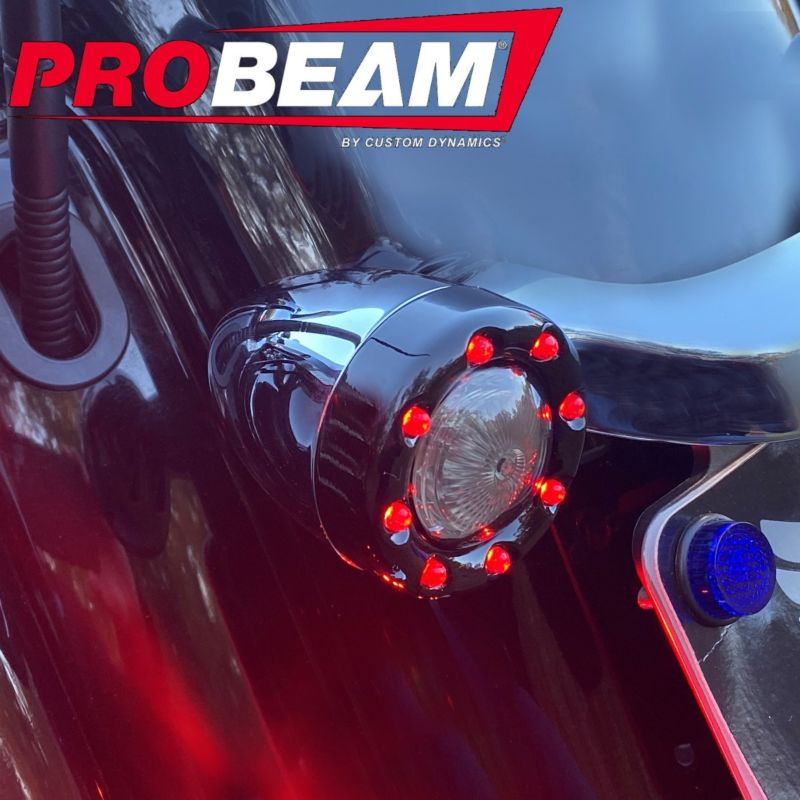 ProBEAM® Bullet Ringz™ Red 1157 Rear LED Turn Signals