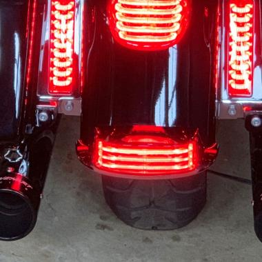 Motorcycle Run/Brake LED Fender Tips
