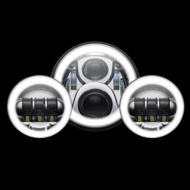 Custom Dynamics® Motorcycle LED Headlamps & Passing Lamps