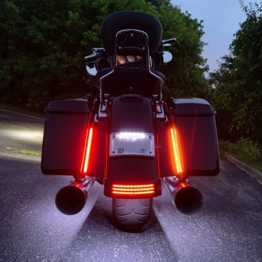 Plasma Rods™ Motorcycle Rear LED Fender Light Bars