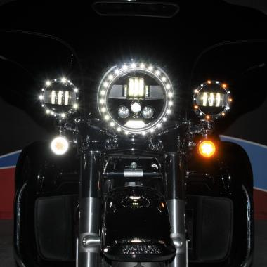 Motorcycle LED Passing Lamp Trim Rings