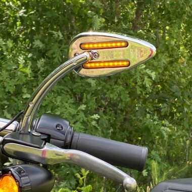 LED Motorcycle Mirrors & Handlebar Lights