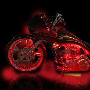 Harley Davidson Motorcycle LED Lights by Custom Dynamics on