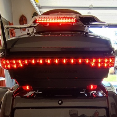Tour Pak Luggage Rack LED Light Bar