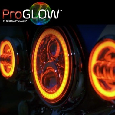 ProGLOW™ Motorcycle Headlamps & Passing Lamps with Color Changing Halo
