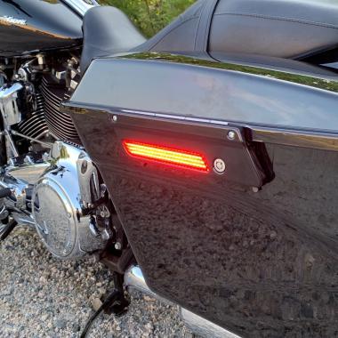 Motorcycle LED Saddlebag Latch Lights
