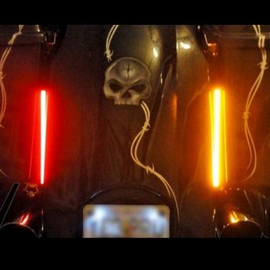 Led motorcycle light bars plasma rods aloadofball Choice Image