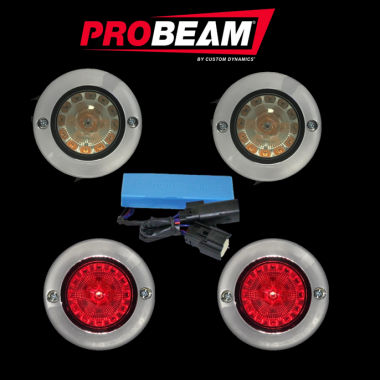 ProBEAM® Flat Bezel Turn Signal Kits for Harley-Davidson®