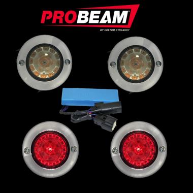 ProBEAM® Flat Bezel Turn Signal Kits for Harley-Davidson®