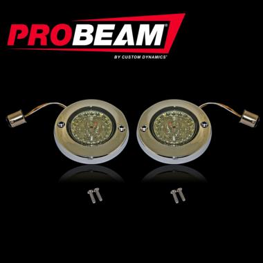 ProBEAM® Flat Bezel Turn Signal Inserts for Harley-Davidson®
