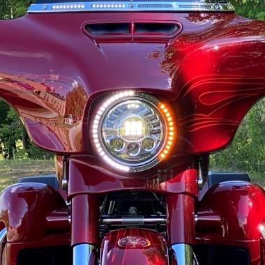 LED Motorcycle Headlamp Trim Rings