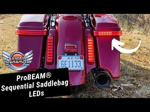 ProBEAM Sequential Saddlebag LED Lights for Harley Davidson Motorcycles