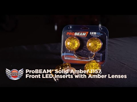 ProBEAM® Solid Amber 1157 Bullet LED Turn Signals for Harley Davidson® models