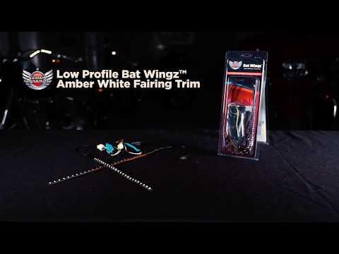 Low Profile Bat Wingz™ Amber/White Fairing Trim for Harley Davidson®
