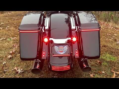 Plug and Play Quad LED Lighted License Plate Frames for Harley Davidson