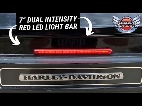 "Custom Dynamics 7"" Dual Intensity Red LED Light Bar"