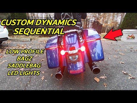 Custom Dynamics Sequential Low Profile BAGZ Saddlebag Lights