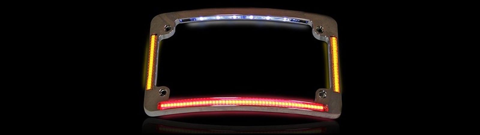 Motorcycle LED License Plate Frames
