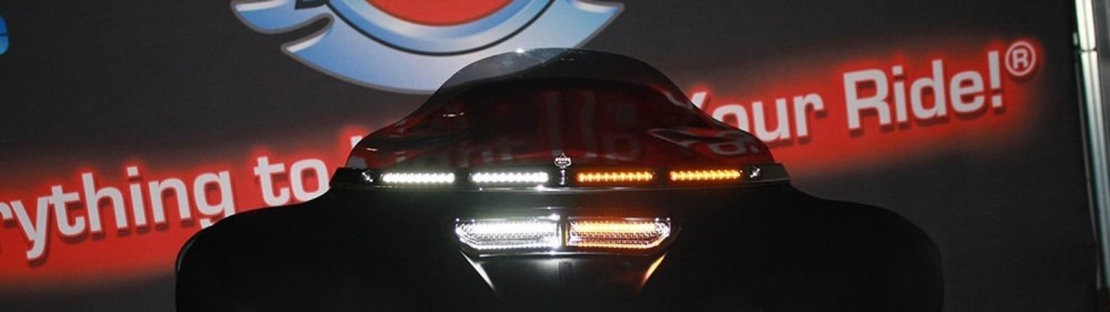LED Motorcycle  Windshield  Vent Trim